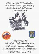 16. ročník Regionálneho zrazu cykloturistov regiónu Záhorie a zraz cykloturistov v M. Karpatoch